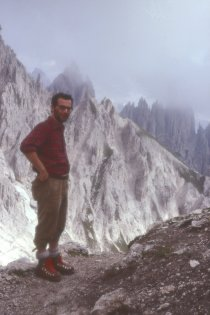 On the Durissini pathway, Cadini di Misurina  (1977)